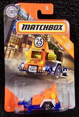 Matchbox 2020 Case V - Speed Trapper - Police Radar Trailer - MBX City - Orange