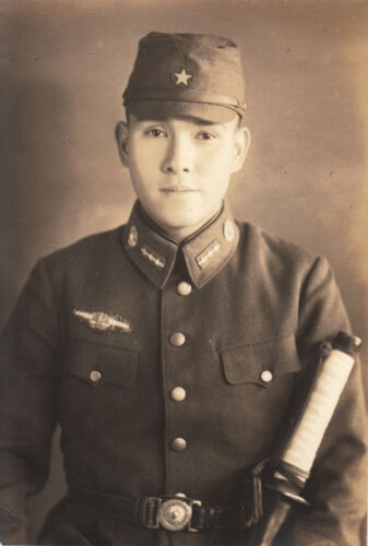 WORLD WAR ll ~  JAPANESE AIR FORCE PILOT (CAPTAIN) W/ SAMURAI SWORD