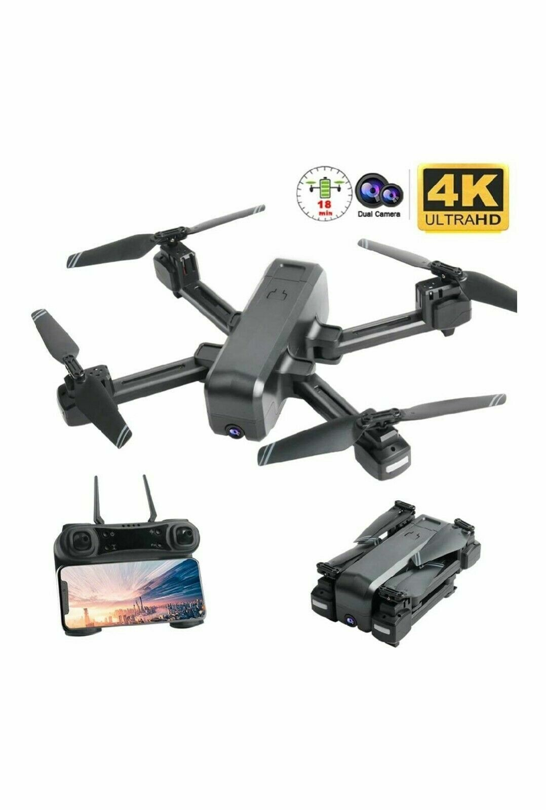 4K Camera Drone Dual Camera Optical Flow