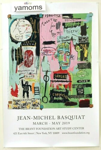 NEW Jean-Michel Basquiat Brant Foundation Exhibit Poster 2019 OG NYC Art RARE