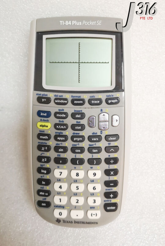 16249 Texas Instruments Graphing Calculator W/ Cable Ti-84 Plus Pocket Se