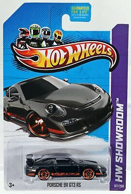 Hot Wheels Porsche 911 GT3 RS HW Showroom 2013 Series #X1956 New NRFP Black 1:64