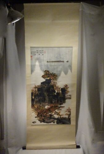 Vintage Chinese Scroll Painting    -  58052
