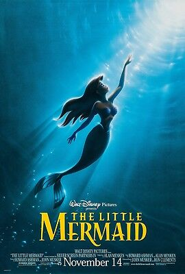 THE LITTLE MERMAID (1987) ORIGINAL ADVANCE R-1997 MOVIE POSTER   ROLLED  2-SIDED