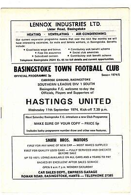 Basingstoke Town v Hastings United 1974/5 Southern League
