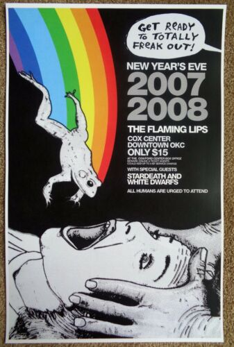 FLAMING LIPS 2007 Gig POSTER Oklahoma City Concert
