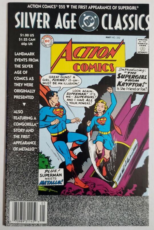 Silverage Classics Action Comics #252 NM 1st App Supergirl Newsstand Edition DCU