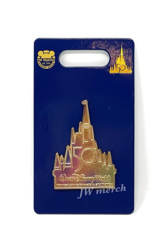 Walt Disney World 50th Anniversary Magic Kingdom Cinderella Castle Logo Pin NEW
