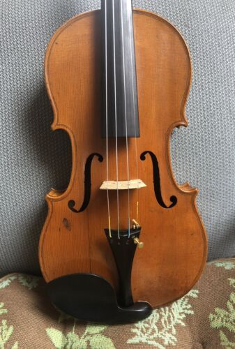 Beautiful French Old Antique 4/4 Francois Breton Violin C. 1800 s. - $1,000.00
