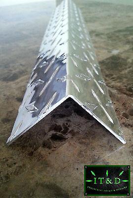 Set Of 6 2x 2x 48 Wall Edge Corner Guard Angle .063 Aluminum Diamond Plate