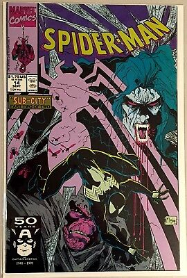 Spider-Man #14 1991 Black Costume Sub-City Part 2 NM Todd McFarlane