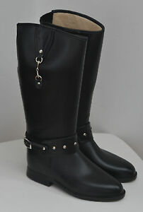 Däv Vegan Equestrian Bit Black Boots.