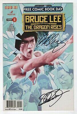 Bruce Lee The Dragon Rises 0 2016 NM FCBD Signed Shannon Lee Bernard Chang comprar usado  Enviando para Brazil