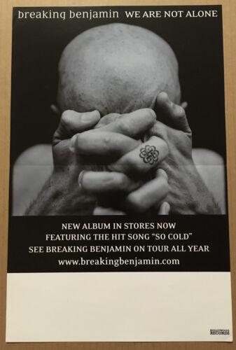 BREAKING BENJAMIN Rare PROMO POSTER of 2004 CD 11x17 USA NEVER DISPLAYED