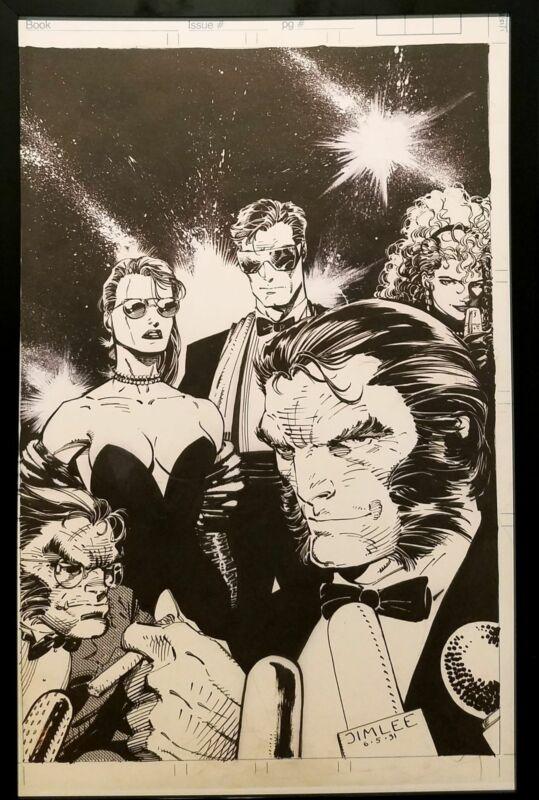 Amazing Heroes #192 X-Men by Jim Lee 11x17 FRAMED Original Art Poster Marvel Com