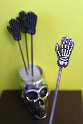 New COCKTAIL PICKS skull skeleton gift martini Halloween decoration witches - Witches Brew Halloween Cocktail