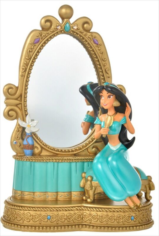 Disney Store Japan 2021 Aladdin Jasmine Figure Mirror Stand Princess