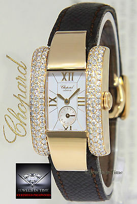 Chopard La Strada 18k Yellow Gold Diamond 23mm Ladies Watch Box/Papers 41/6823
