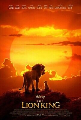 The Lion King 2019 Movie Poster  - Donald Glover, Chiwetel E