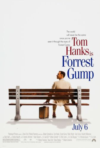 FORREST GUMP (1994) ORIGINAL MOVIE POSTER  -  ROLLED  -  DOUBLE-SIDED