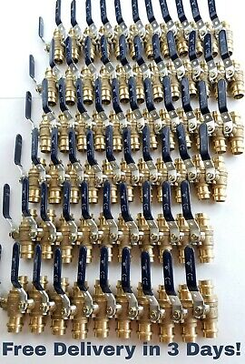 Lot Of 30 34 Propress Brass Ball Valves - Press Brass Ball Valve- Lead Free