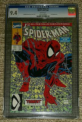 Spider-Man #1 – Todd McFarlane - Marvel 1990 – CGC Grade 9.4 - Near Mint - NM