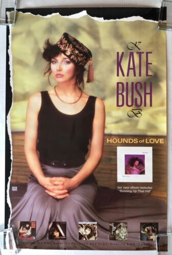 KATE BUSH Hounds Of Love 1985 EMI America PROMO POSTER Running Up That Hill