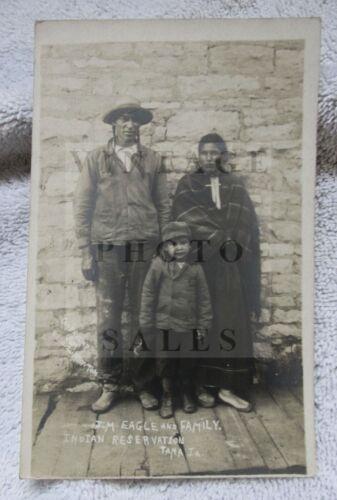 Jim Eagle & Family Sac Fox Indian Tama Iowa Real Photo Photograph Postcard RPPC
