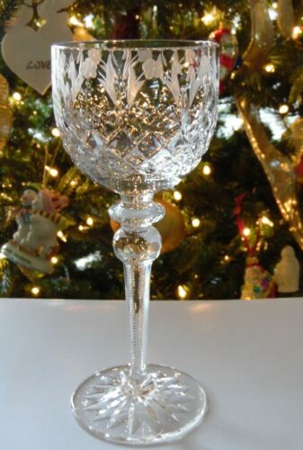 "Rogaska QUEEN 8"" Wine Hock Glass Goblet"