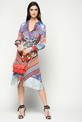 PINKO Dress Sale Shirt Blouse Dress Midilänge Oriental Print: Gr.42