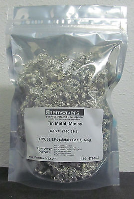 Tin Metal Mossy Acs 99.95 Metals Basis Certified 500g