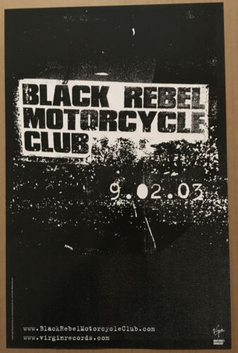 BLACK REBEL MOTORCYCLE CLUB Rare 2003 PROMO POSTER w/ RELEASE DATE for Take CD