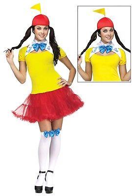 Tweedle Dee Dum Alice in Wonderland Adult Costume Dress Womens S M L (Tweedle Dee Costumes)