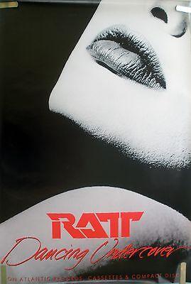 RARE RATT DANCING UNDERCOVER 1986 VINTAGE ORIG MUSIC RECORD STORE PROMO POSTER
