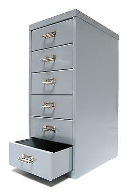 Büroschrank Schubladenschrank, 6 Schubladen silber Stahlschrank Bürocontainer