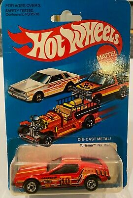 Hot Wheels 1981 Turismo #1694 Vintage Red Body Carded Sealed