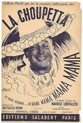 LA CHOUPETTA de Maurice CHEVALIER Paroles BATTAILLE-HENRI Musique JARARACA 1951 comprar usado  Enviando para Brazil