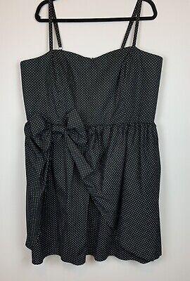 Plus Size Pin Up (NWT Torrid, Women's Plus Size 26, Retro, Pin-up, Black, Pin-dot Bow Pickup)