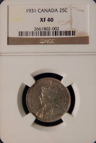 1911 25 CENTS - NGC XF 40 - CANADA - SILVER