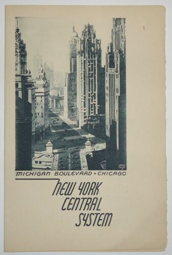 New York Central RR1941?  Folder Menu - Chicago  Cover -James Whitcomb Riley
