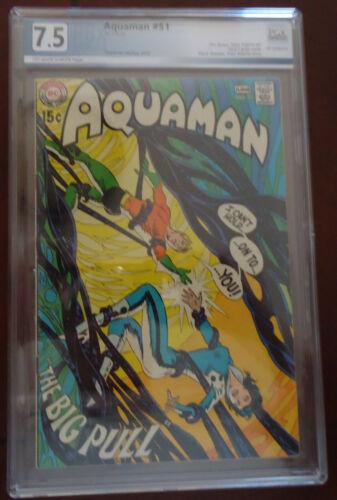 Aquaman #51  PGX 7.5 1970  VF-  Neal Adams Art Off-White Pages  w/ Deadman