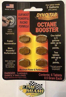 Dyno-tab® High Performance Octane Booster 6-tab Dynotab Card for Cars & (Dyno Tab)