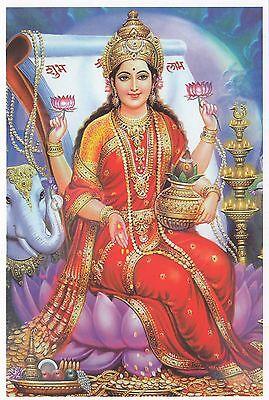 (96869) Postcard India Hindu Lakshmi - un-posted