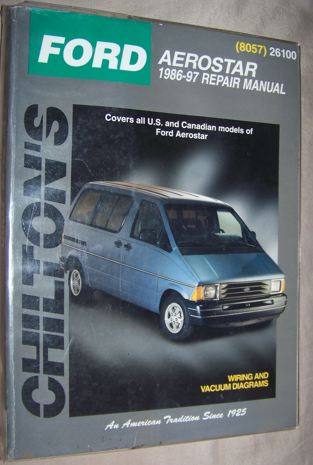 Used Ford Auto Parts And Components For Sale Page 75 Aerostar Engine Diagram Chilton 1986 1997 Service Repair Manual W Wiring Vacuum Diagrams