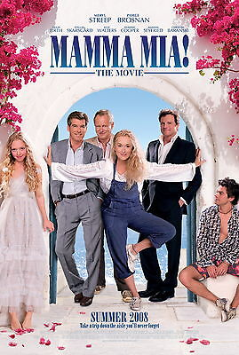 Mamma Mia Movie Poster : 11 X 17 Inches : Amanda Seyfried, Meryl Streep Poster