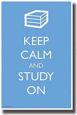 Keep Calm And Study On - Humor Poster