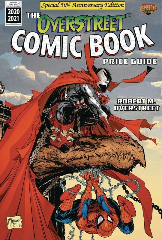OVERSTREET 2020 2021 COMIC BOOK PRICE GUIDE 50 HARDCOVER Spiderman Spawn CVR HC