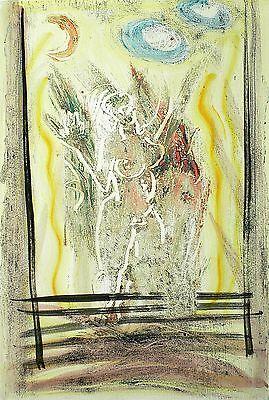 JOHANNES RICHTER - Akt vor offenem Fenster - Monotypie um 1970