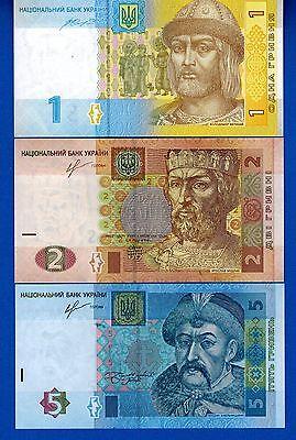 Ukraine P-116 P-117 P-118 Years 2013-2014 Uncirculated Banknotes Set # 3
