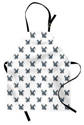 Perro Delantal de Cocina Husky siberiano cachorro